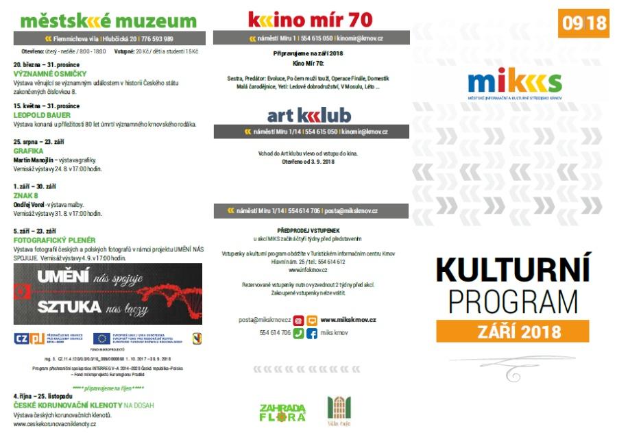 fbe94fdf20d MIKS Krnov - Kulturní program – září 2018
