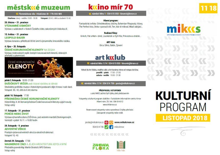 1a089d1b70b MIKS Krnov - Kulturní program – listopad 2018